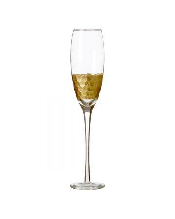 Honeycomb Champagne Flutes - Set of 4
