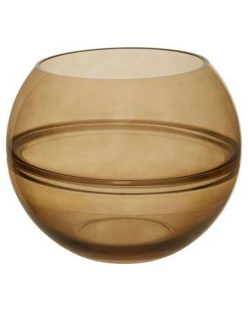 Optik Smoked Vase - Round