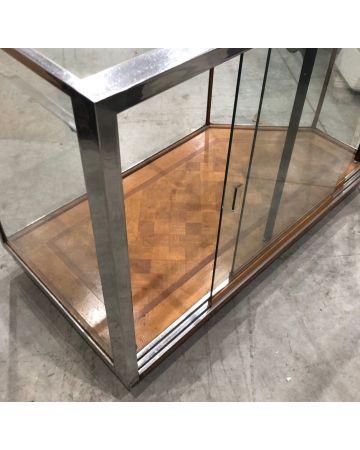 Chrome Glass Counter