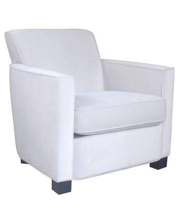 Savoy Arm Chair - Off White Velvet