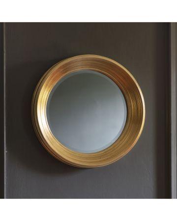 Hamburg Convex Mirror - Gold