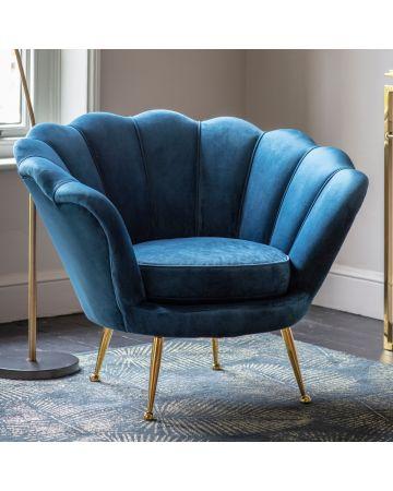Cocktail Armchair - Inky Blue