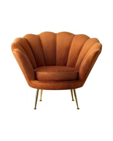 Cocktail Armchair - Rusty Orange