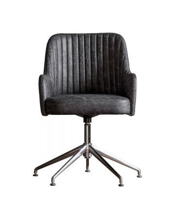 Brooklands Swivel Chair - Dark Grey