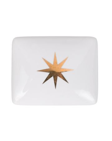 Gold Star Rectangular Box