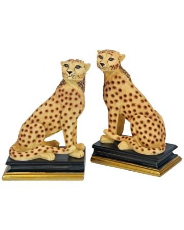 Cheetah Bookend Set