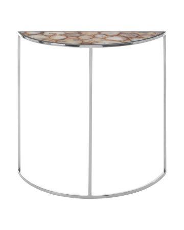 Pietra Half Moon Table - White