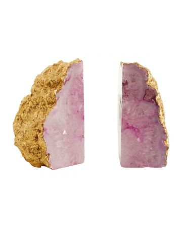 Pietra Agate Bookends - Pink