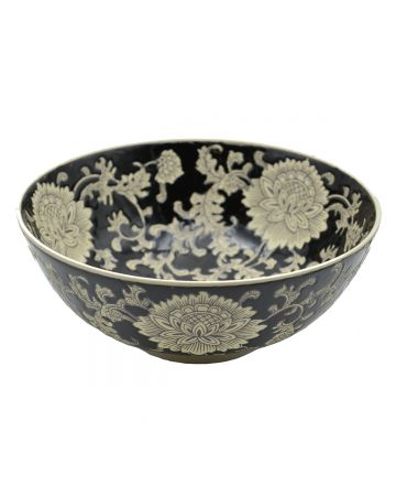 Mandalay Round Bowl - Black