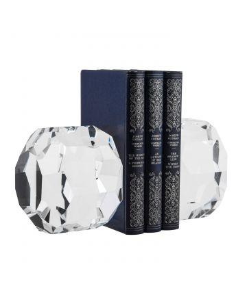 Brilliant Crystal Bookend Set