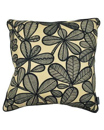 Thevenon Cushion - FAO Noir Fond Vanille