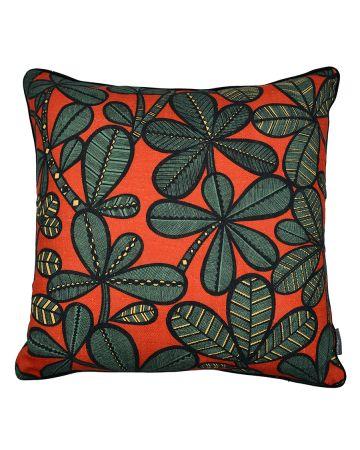 Thevenon Cushion - FAO Noir Fond Rouge