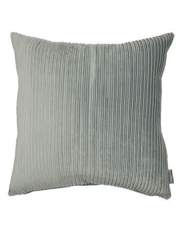 Thevenon Pleats Velvet Cushion - Aquamarine
