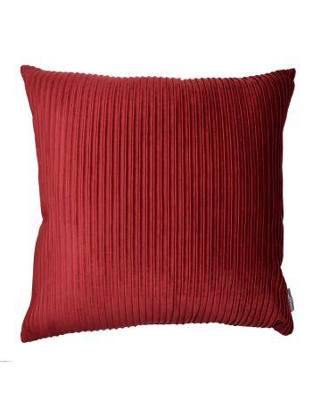 Thevenon Pleats Velvet Cushion - Burgundy