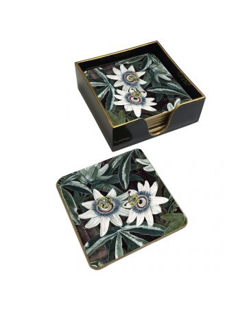 Passion Flower set of 6 Coasters