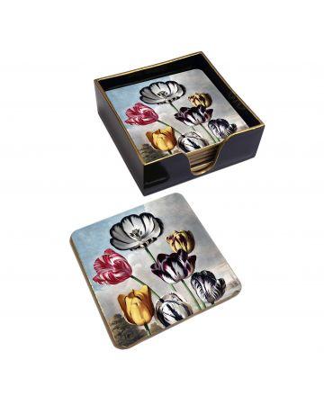 Tulips set of 6 Coasters