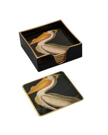 Pelican set of 6 Coasters