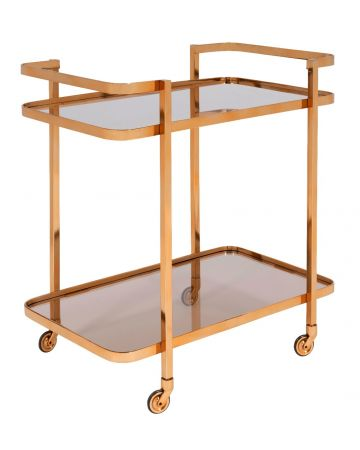 Eva Drinks Trolley - Gold