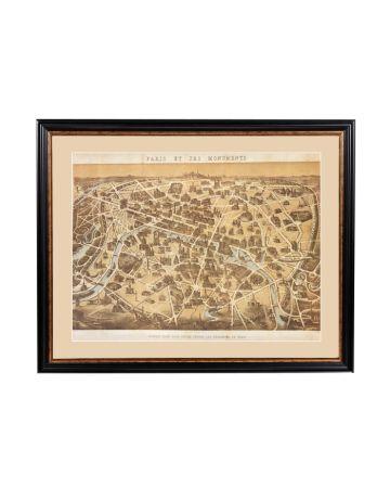 Paris Monuments Framed Print