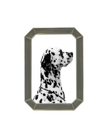 Grey Enamel Photo Frame - 4x6
