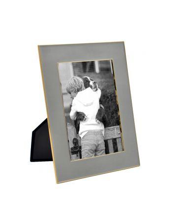 Grey Enamel Photo Frame - 5x7