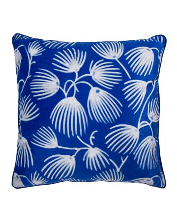 Seed Heads Blue Cushion