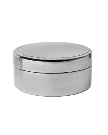 Connell Round Nickel Box - 9cm