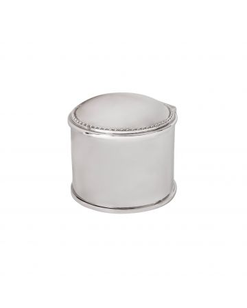 Connell Round Nickel Box - 5.5cm