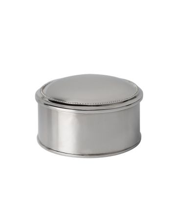 Connell Round Nickel Box - 7.5cm