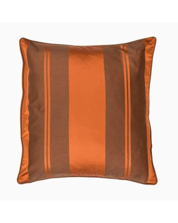 Baroque Stripe Cushion-D Rust