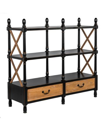 Empire Low Double Bookcase