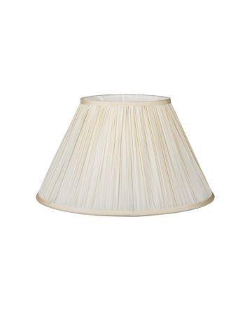 "Ivory Silk Pleat Lamp Shade - 14"""