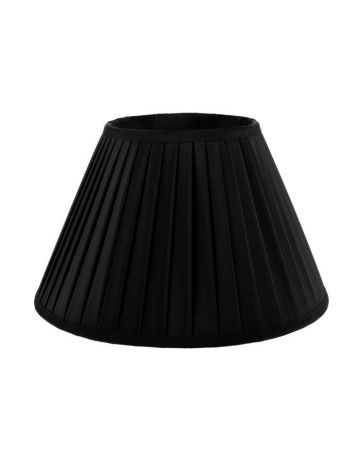 Heritage Black Pleat Shade-14""
