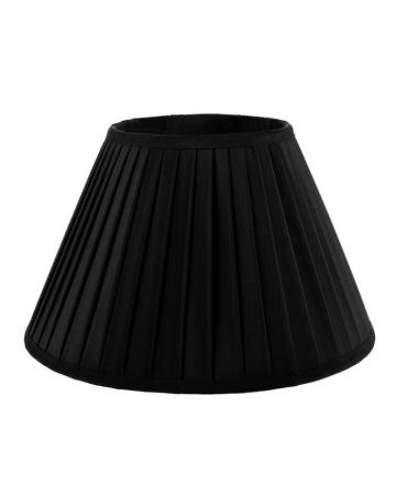 Heritage Black Pleat Lamp Shade-16""