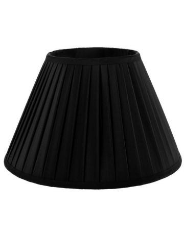 Heritage Black Pleat Lamp Shade-18""