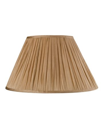 Gold Silk Pleat Lamp Shade - 16""