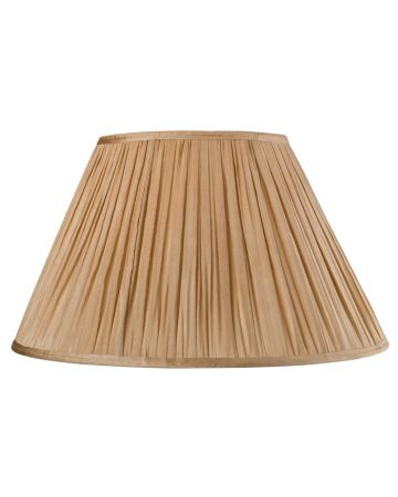 Gold Silk Pleat Lamp Shade - 18""