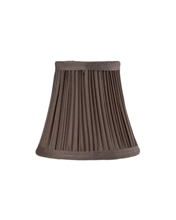 Taupe Pleat Chandelier Lamp Shade