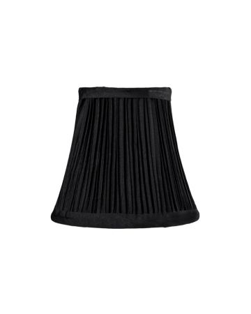 Black Pleat Chandelier Lamp Shade
