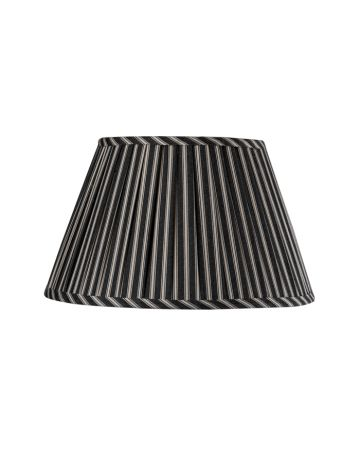 Char Ticking Stripe Lamp Shade-16""