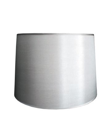 Silver Silk Retro Drum Shade - 14""