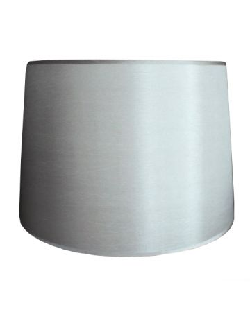 Silver Silk Retro Drum Shade - 16""