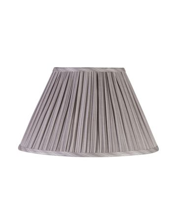Grey Pleat Lamp Shade - 14""