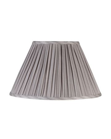 Grey Pleat Lamp Shade - 16""