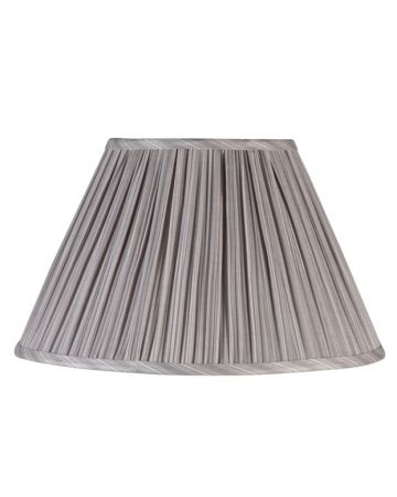 Grey Pleat Lamp Shade - 18""