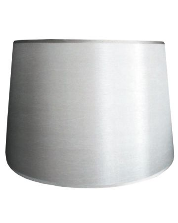 Silver Silk Retro Drum Shade - 18""