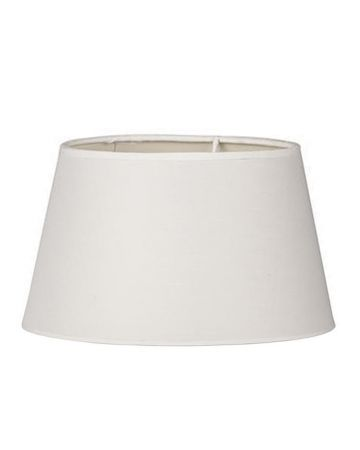 Ivory Cotton Retro Drum Shade - 18""