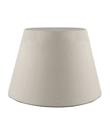 Oyster Silk Drum Shade - 16""