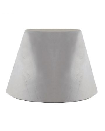 French Grey Silk Drum Shade - 16""