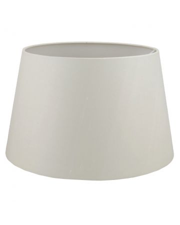 Ivory Silk Drum Shade - 18""